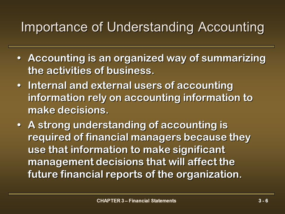 CHAPTER 3 – Financial Statements3 - 7 Accounting Principles Generally Accepted Accounting Principals (GAAP) are contained in the CICA Handbook and have the force of law in Canada.Generally Accepted Accounting Principals (GAAP) are contained in the CICA Handbook and have the force of law in Canada.