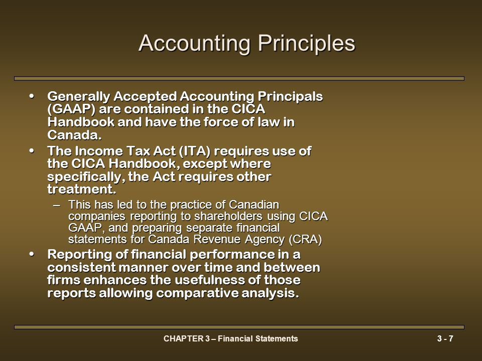 CHAPTER 3 – Financial Statements3 - 48 The Canadian Tax System Personal Income Taxation