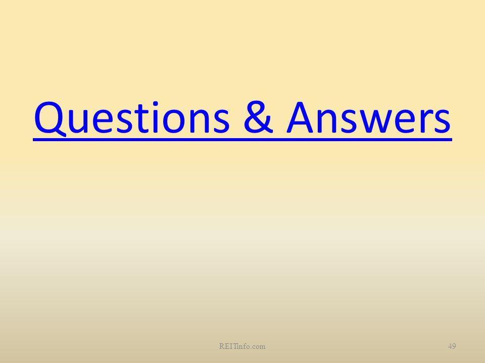 49REITinfo.com Questions & Answers