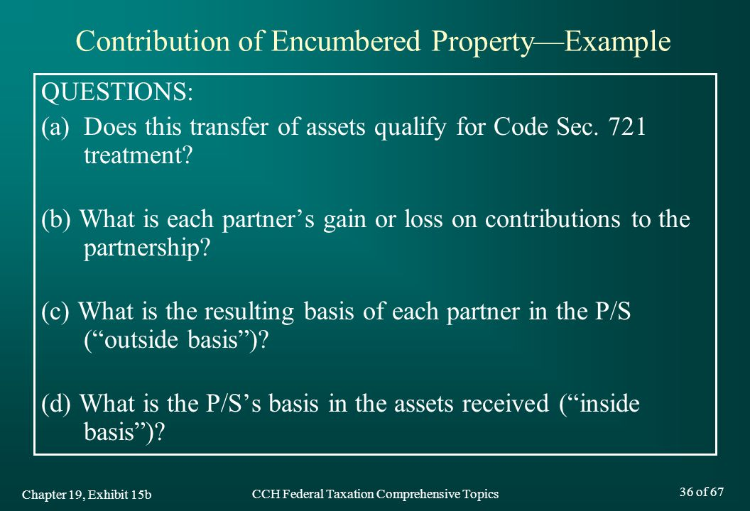 CCH Federal Taxation Comprehensive Topics 36 of 67 QUESTIONS: (a) Does this transfer of assets qualify for Code Sec.