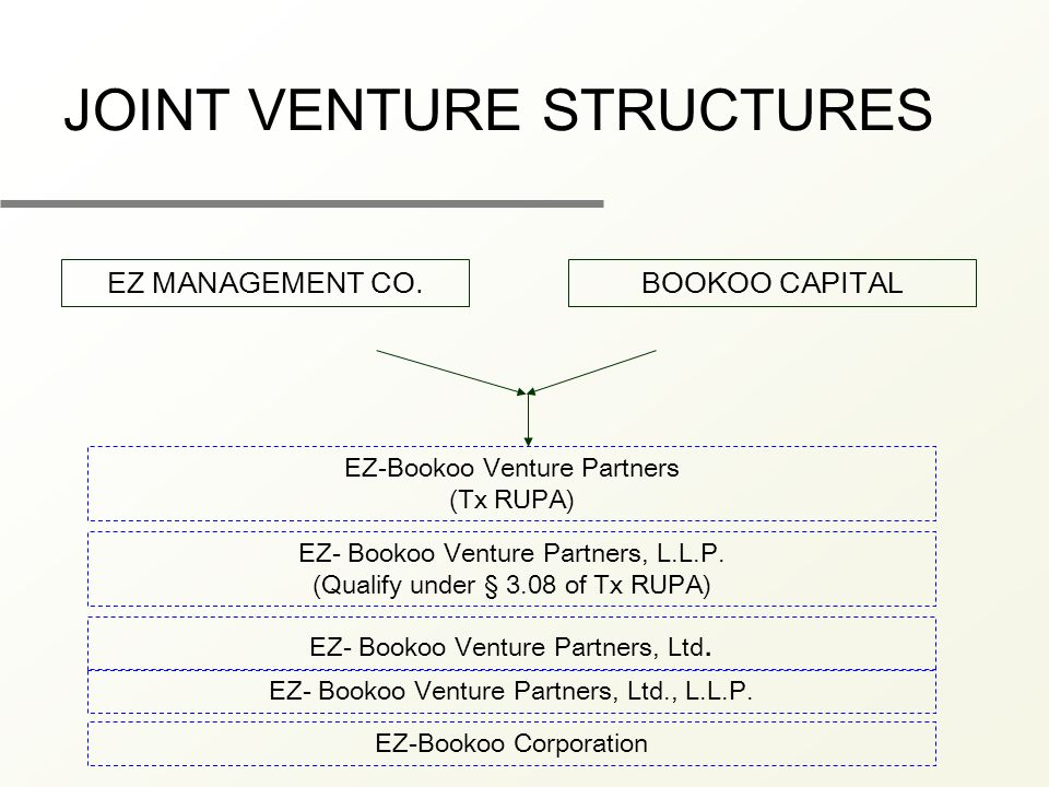 BOOKOO CAPITAL EZ-Bookoo Venture Partners (Tx RUPA) EZ- Bookoo Venture Partners, L.L.P.