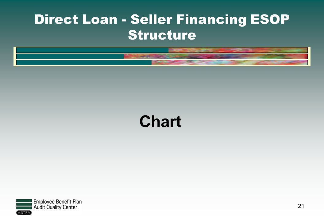 Direct Loan - Seller Financing ESOP Structure Chart 21