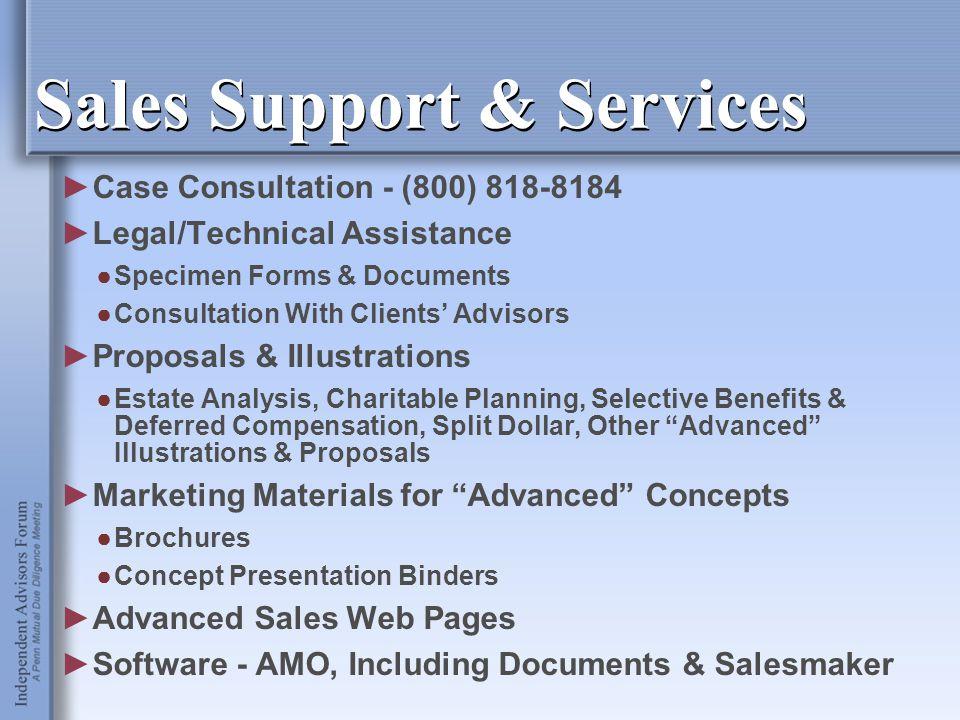Sales Support & Services ►Case Consultation - (800) 818-8184 ►Legal/Technical Assistance ●Specimen Forms & Documents ●Consultation With Clients' Advis