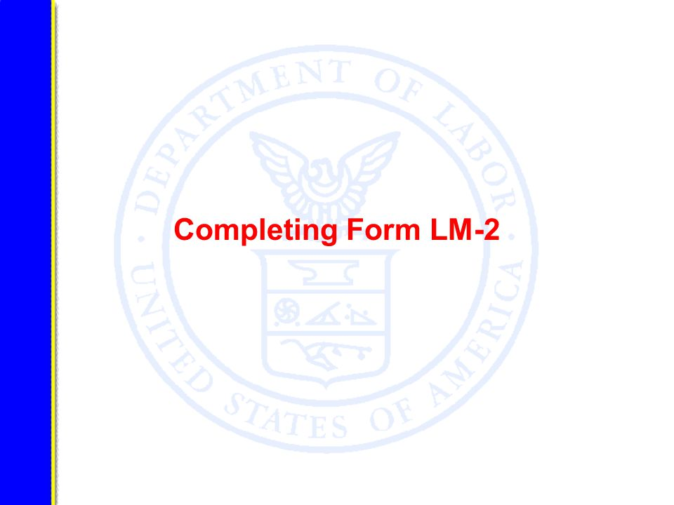 Completing Form LM-2