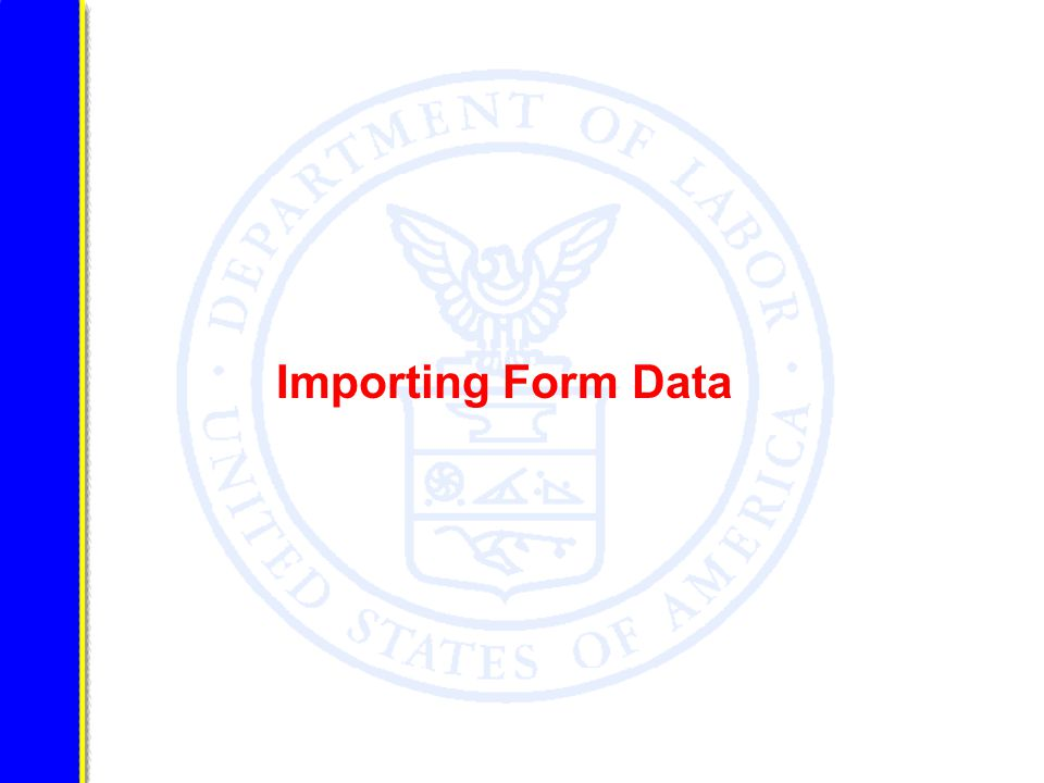 Importing Form Data