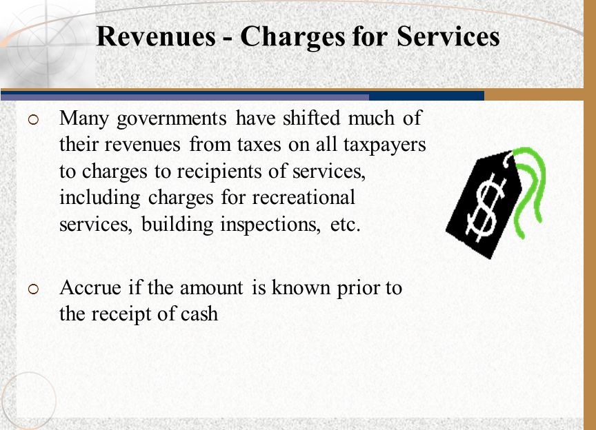  Many governments have shifted much of their revenues from taxes on all taxpayers to charges to recipients of services, including charges for recreat