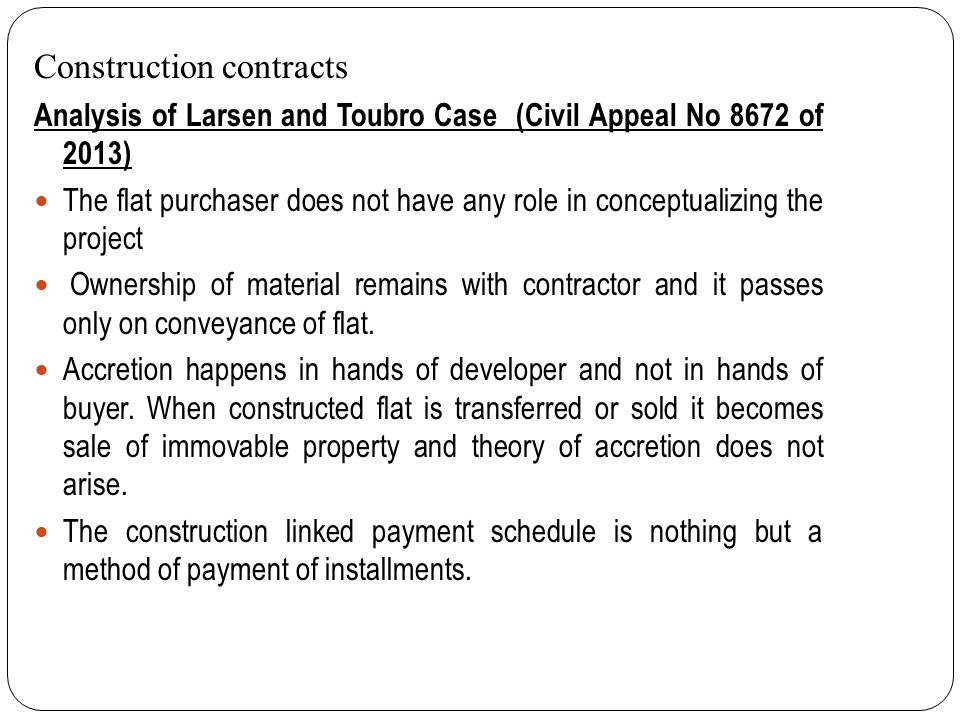 Circular No.12 /2009-10 While determining the taxable turnover, amount received towards UDI from the customer is claimed as deduction; In the circular it is stated that the agreement between the land owner and the developer towards construction of building(s) amounts to works contract.