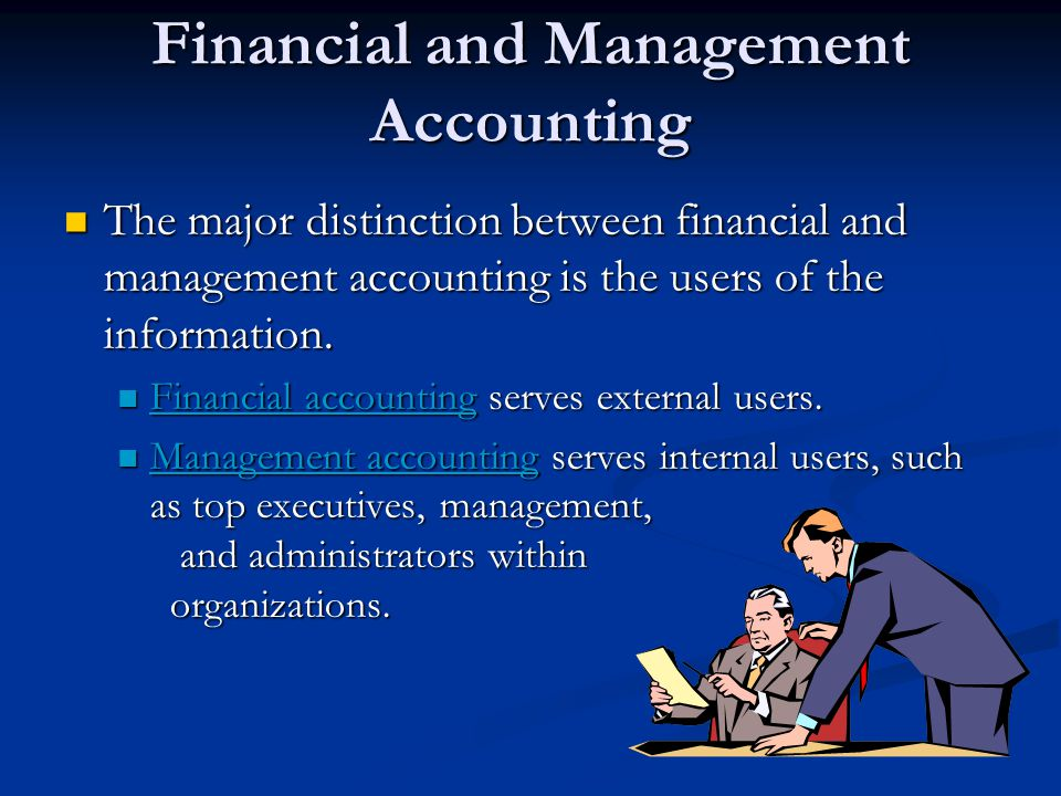 Financial and Management Accounting The primary questions about an organization's success that decision makers want to know are: What is the financial picture of the organization on a given day.