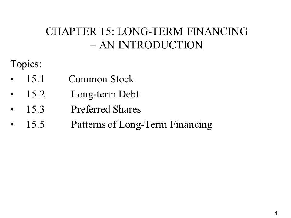 2 Methods of Securing Financing