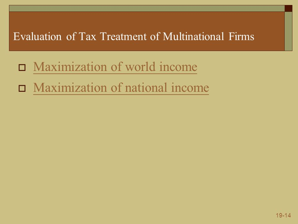 19-15 Corporation Tax Reform  Full Integration (Partnership Method)  Issues Nature of the corporation Administrative feasibility Effects on efficiency Effects on saving Effect on distribution of income