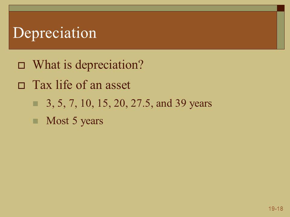19-18 Depreciation  What is depreciation.