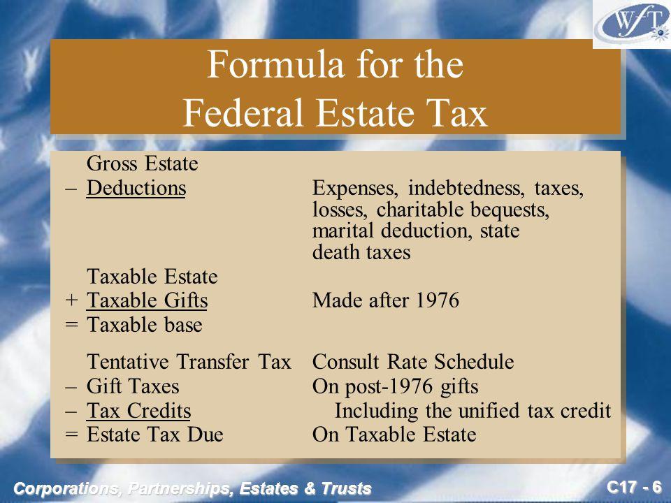 C17 - 37 Corporations, Partnerships, Estates & Trusts Marcia's Gross Estate (slide 1 of 5) 1.