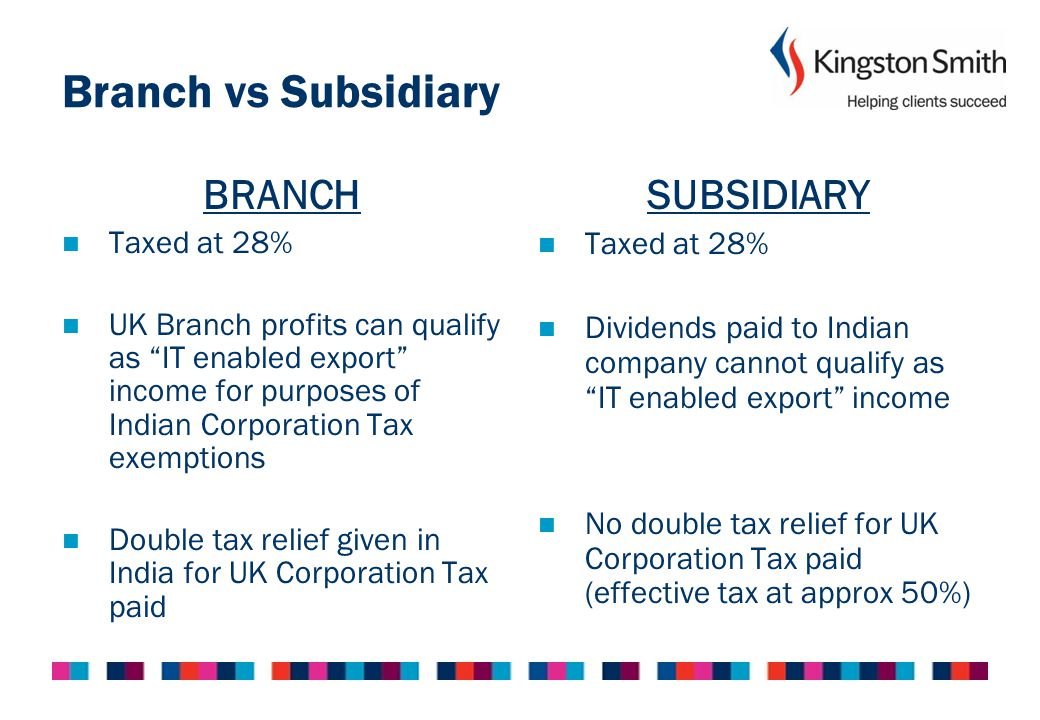 Corporation Tax India UK Branch as Service Provider to UK Client UK Indian Company UK Branch Provides Services UK Client Provides Services Cost Allocation