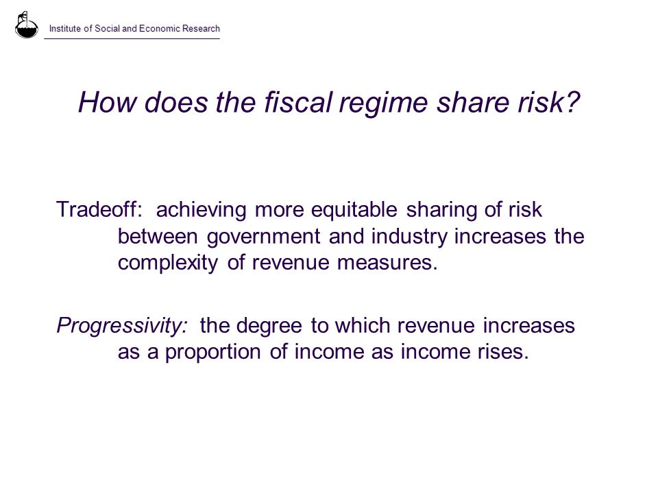 How does the fiscal regime share risk.