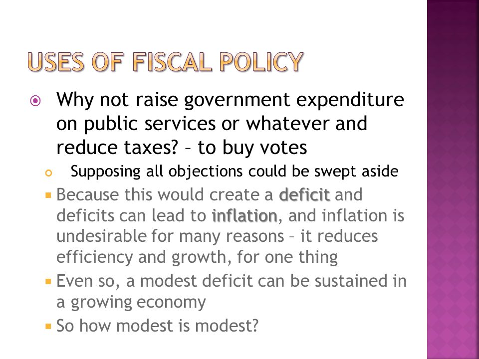  Why not raise government expenditure on public services or whatever and reduce taxes.