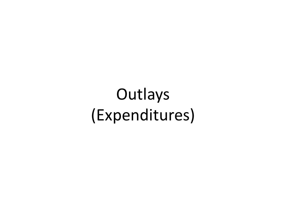 Outlays (Expenditures)