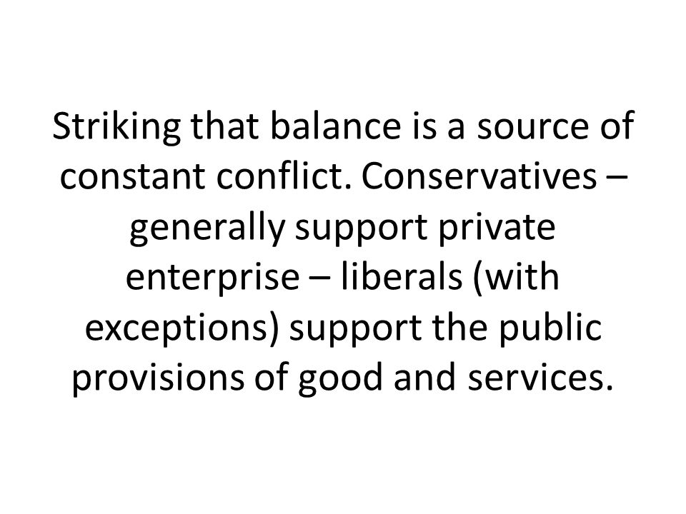 Striking that balance is a source of constant conflict.