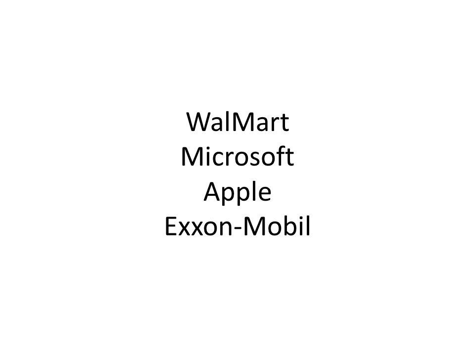 WalMart Microsoft Apple Exxon-Mobil