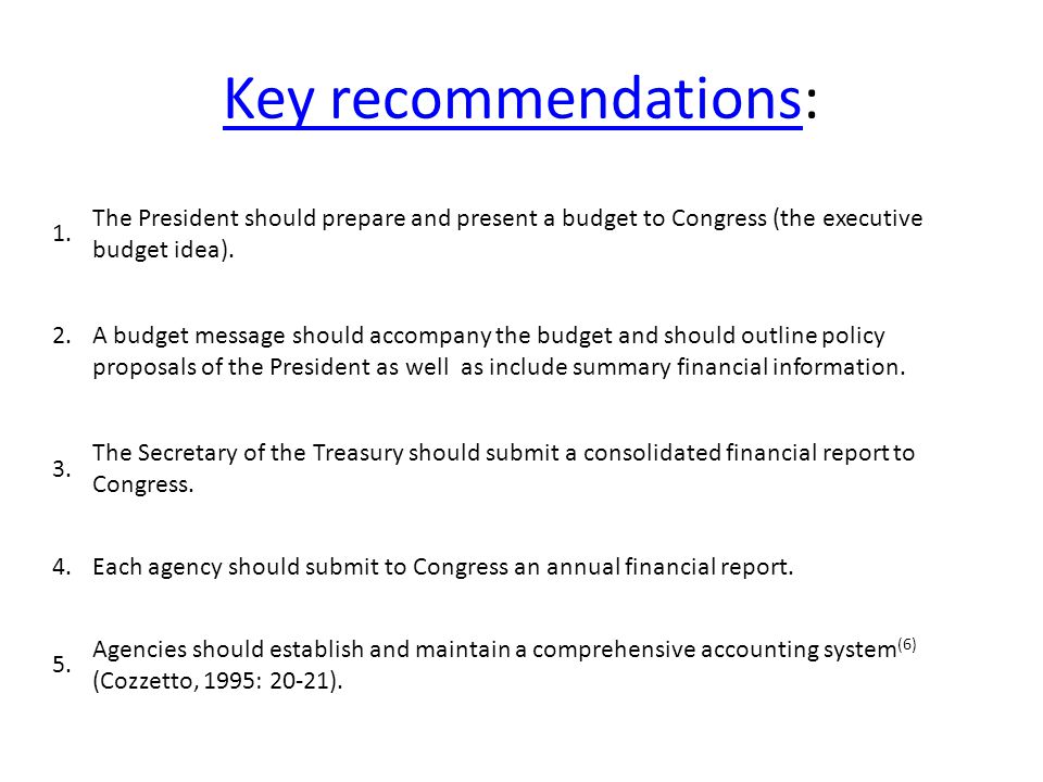 Key recommendationsKey recommendations: 1.