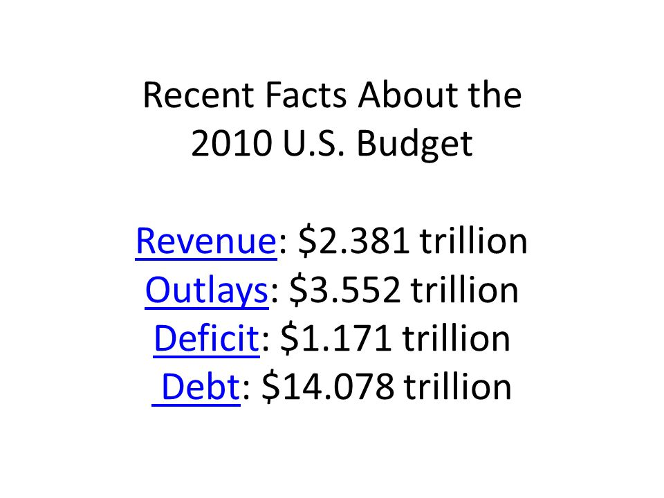 Recent Facts About the 2010 U.S.