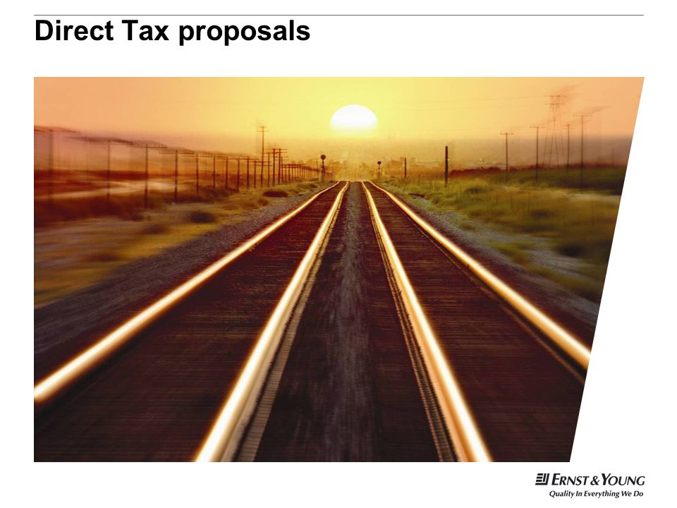 Direct Tax proposals