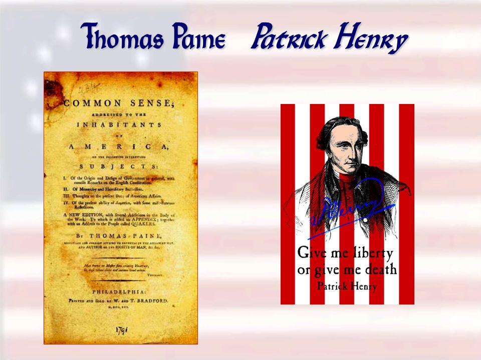 Thomas Paine Patrick Henry