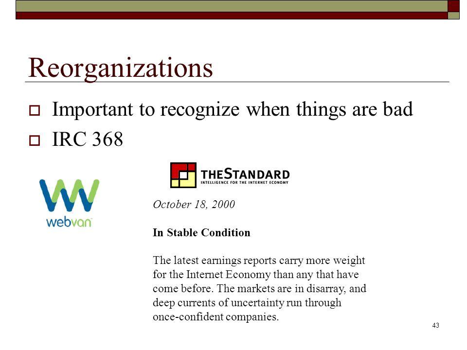 42 Reorganization/Bankruptcy