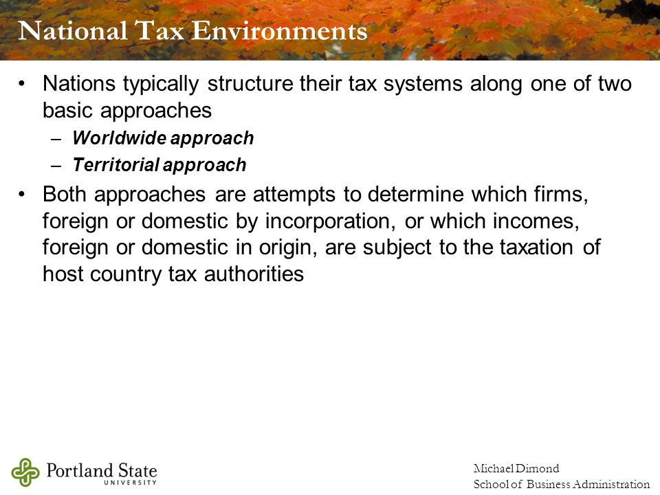 Michael Dimond School of Business Administration Foreign Tax Credits
