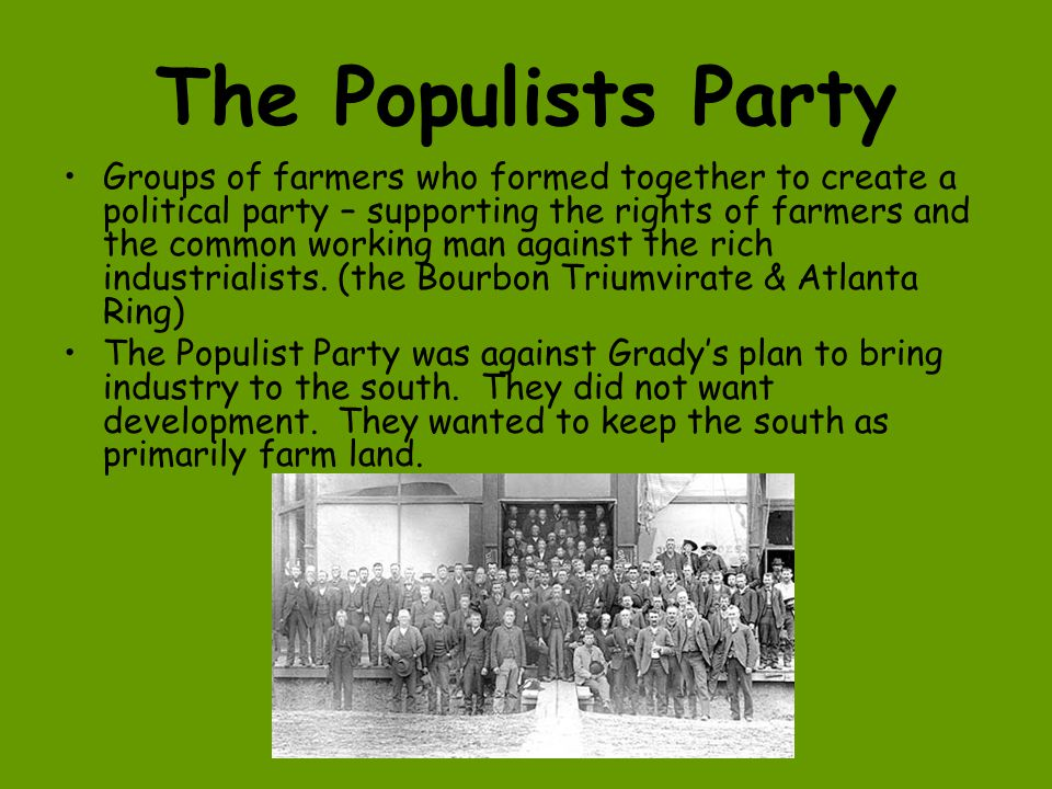 Tom Watson & the Populists Lead the Populists (a.k.a.