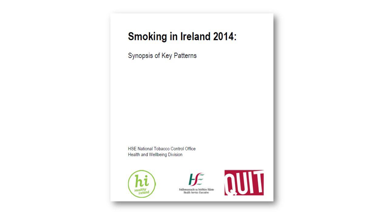Cigarette Smoking Prevalence Jan – Dec 2014 Do You Smoke one or More Cigarettes per week?