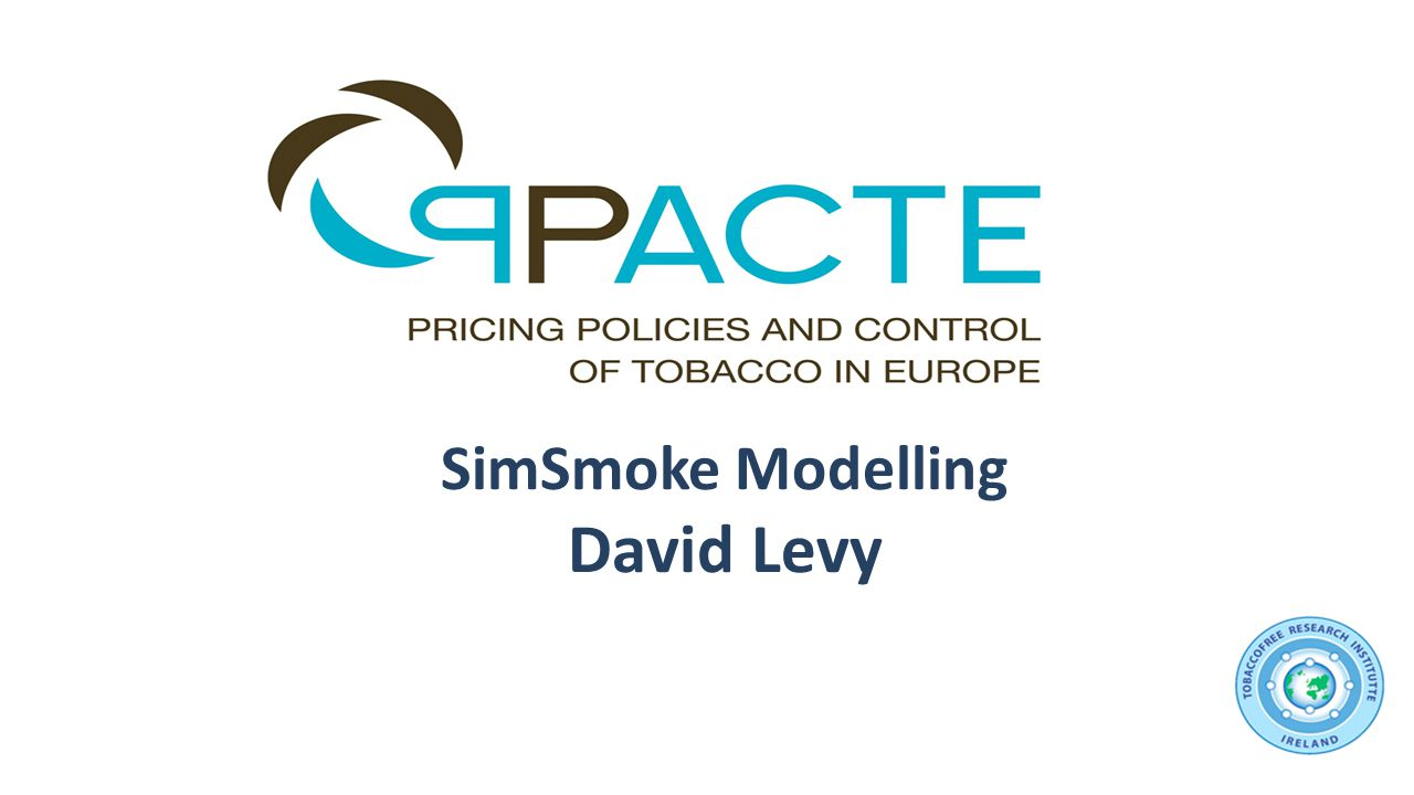 SimSmoke Modelling David Levy