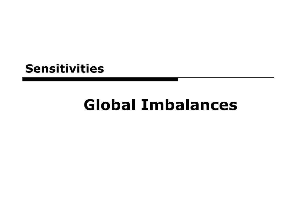 3 Sensitivities Global Imbalances