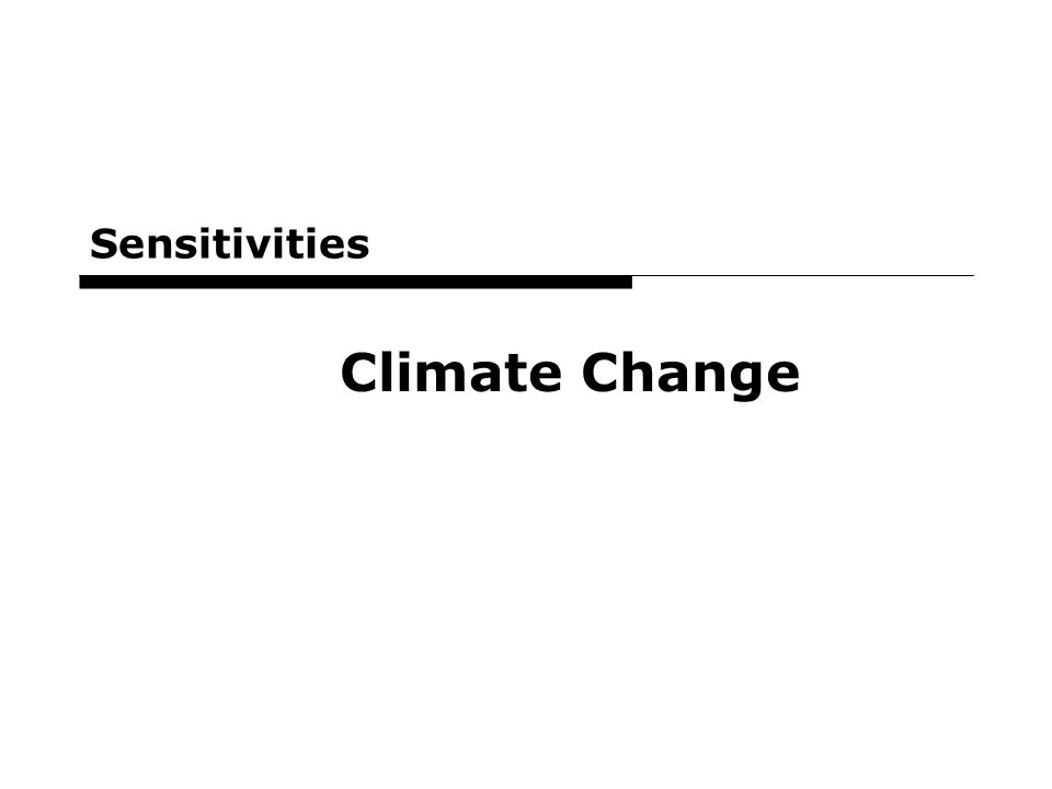 31 Sensitivities Climate Change