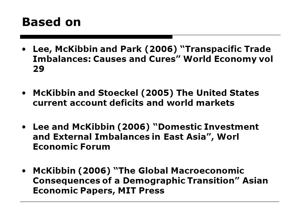 5 Overview What are the macroeconomic imbalances.