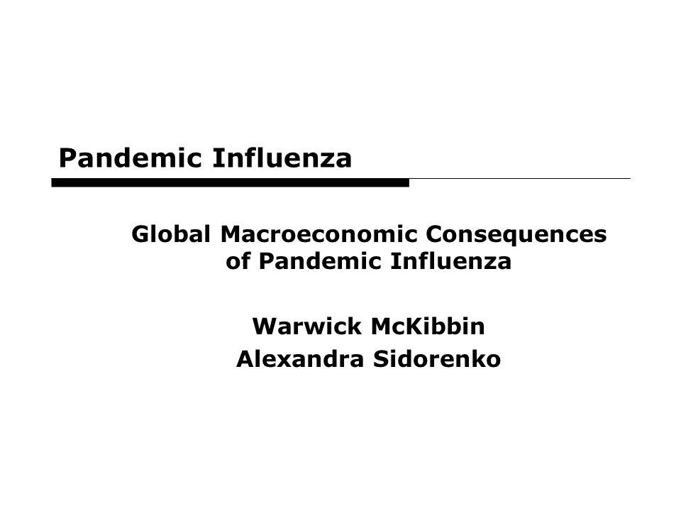 71 Pandemic Influenza Global Macroeconomic Consequences of Pandemic Influenza Warwick McKibbin Alexandra Sidorenko