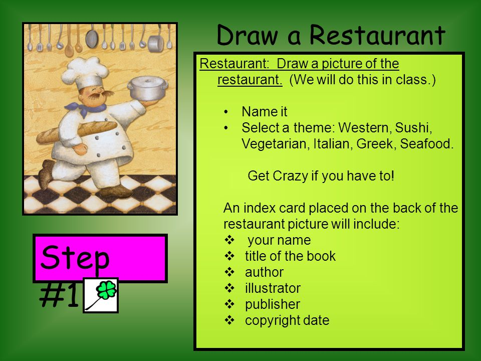 Draw a Restaurant Restaurant: Draw a picture of the restaurant.