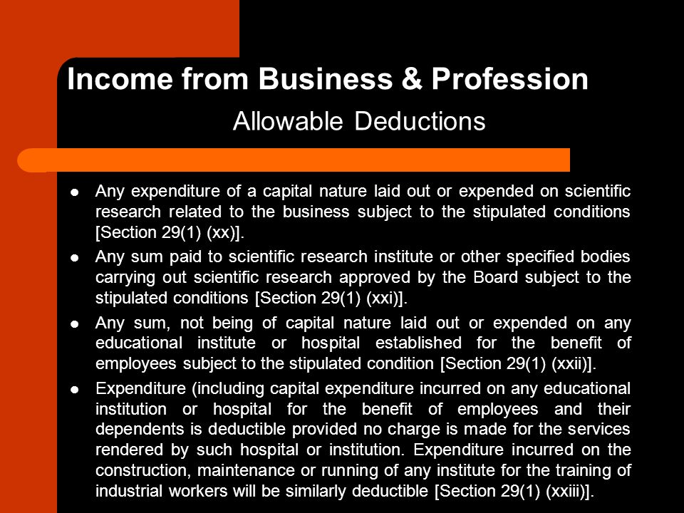 Any expenditure of a capital nature laid out or expended on scientific research related to the business subject to the stipulated conditions [Section