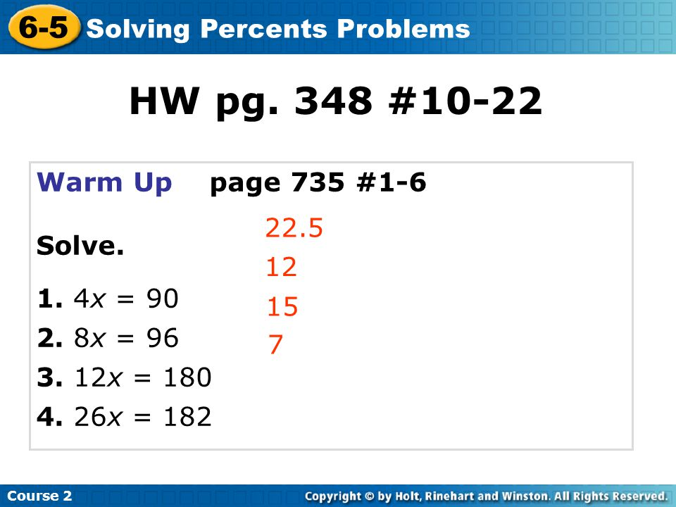 Solve.Check It Out: Example 2A 36 is 24% of what number.