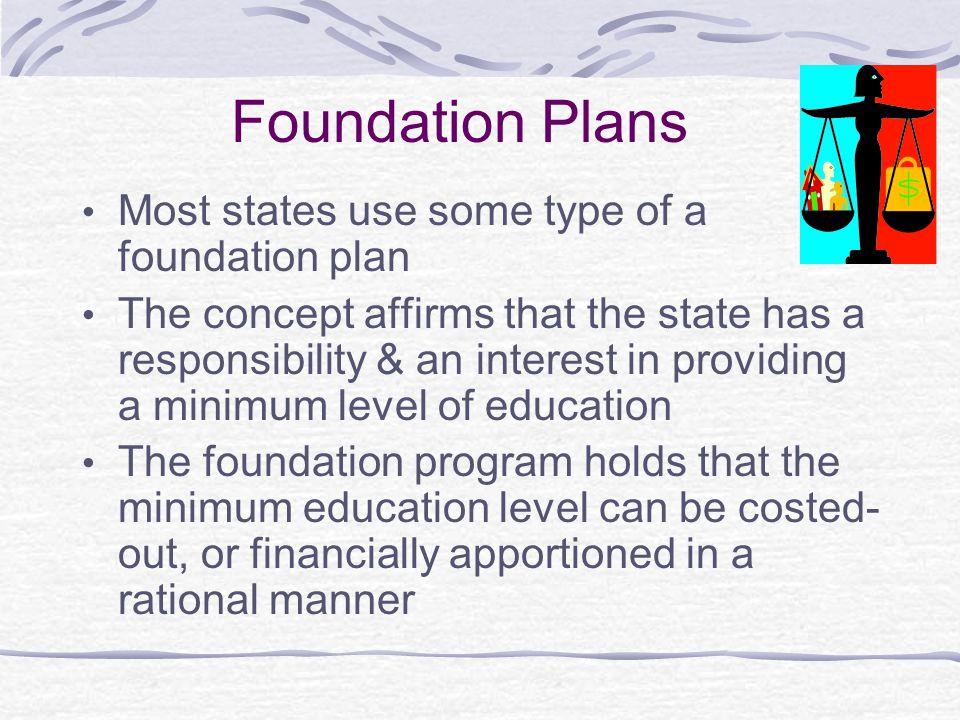 Foundation Plans, cont.