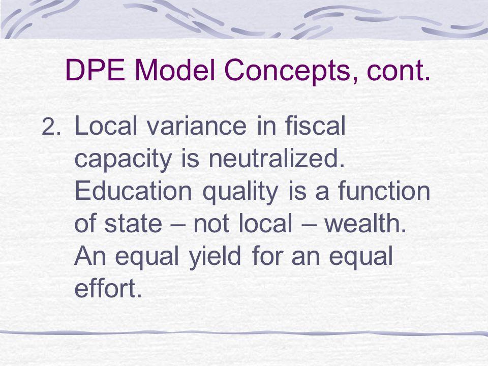 DPE Model Concepts, cont.3.
