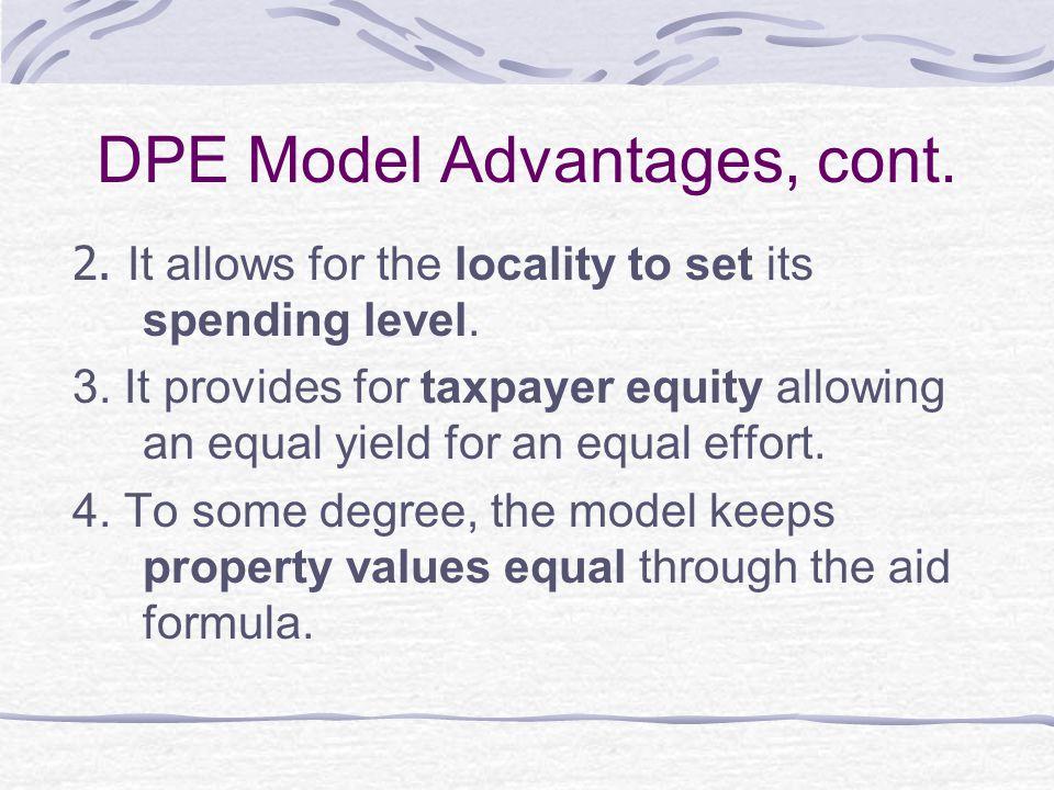 DPE Model Disadvantages 1.