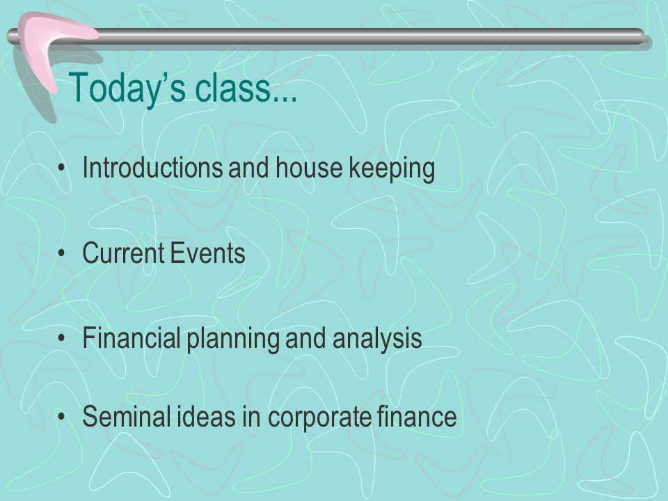 Today's class...