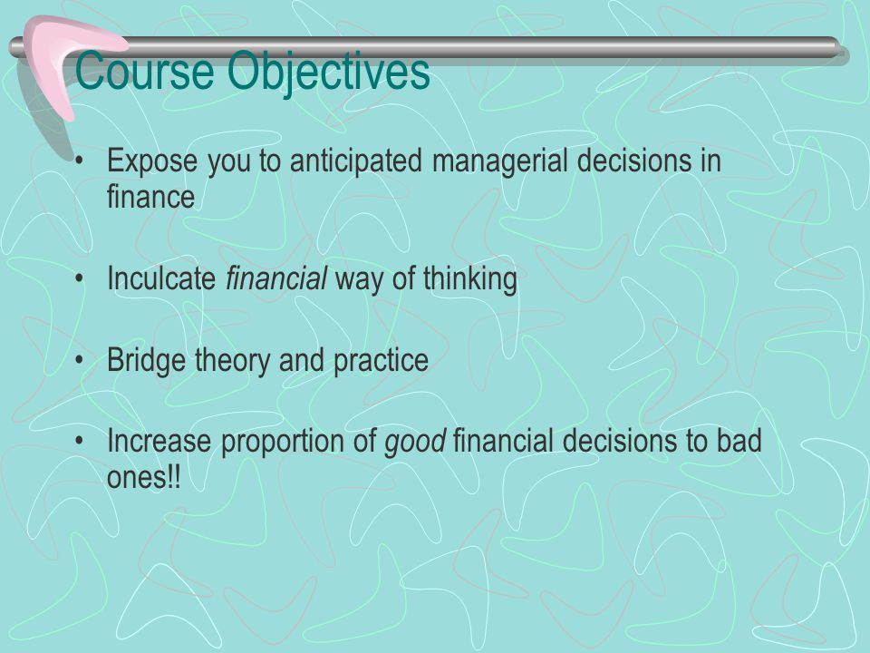 Bridging Finance Theory and Managerial Finance...