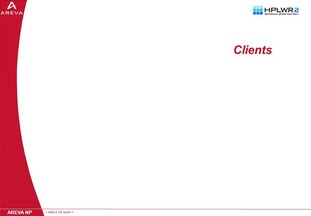 > AREVA NP GmbH < AREVA NP Clients