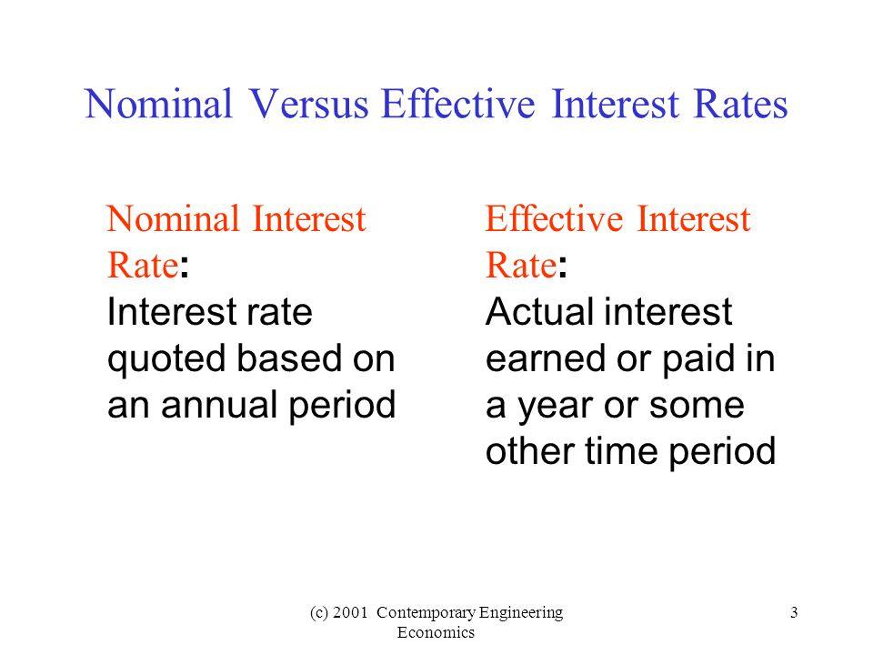 (c) 2001 Contemporary Engineering Economics 34 $5,000 0 24 12 i = .