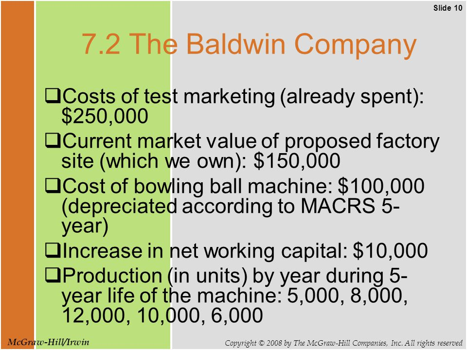 Slide 10 Copyright © 2008 by The McGraw-Hill Companies, Inc.