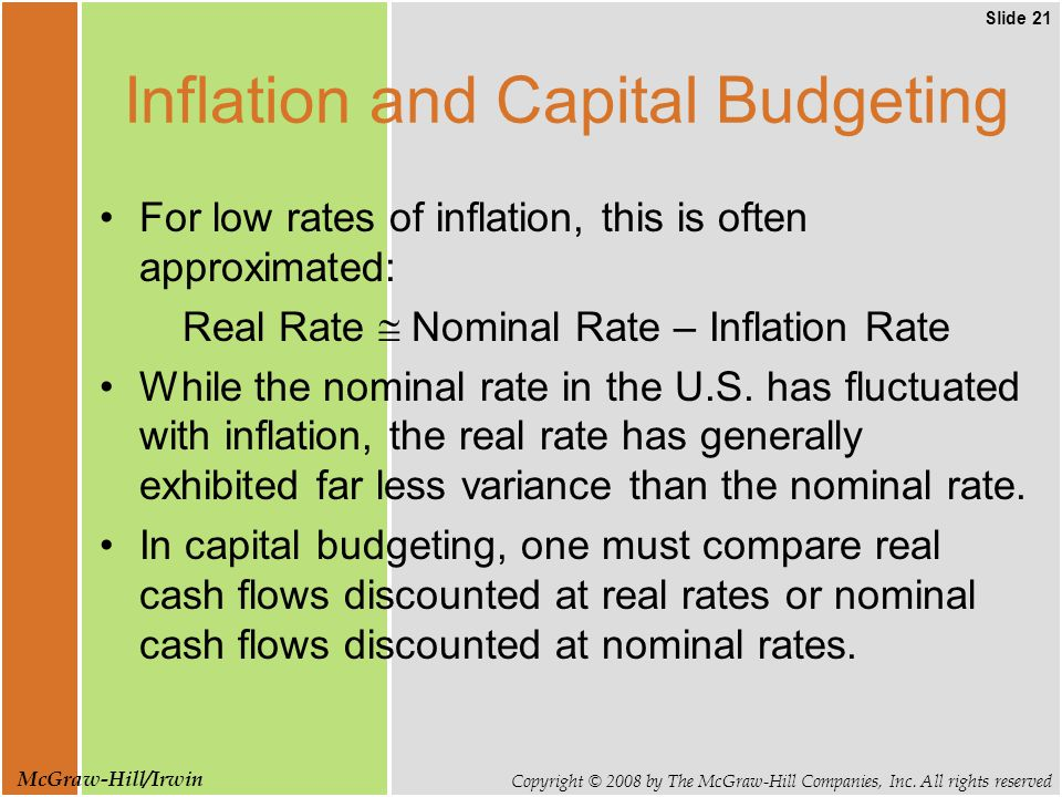 Slide 21 Copyright © 2008 by The McGraw-Hill Companies, Inc.