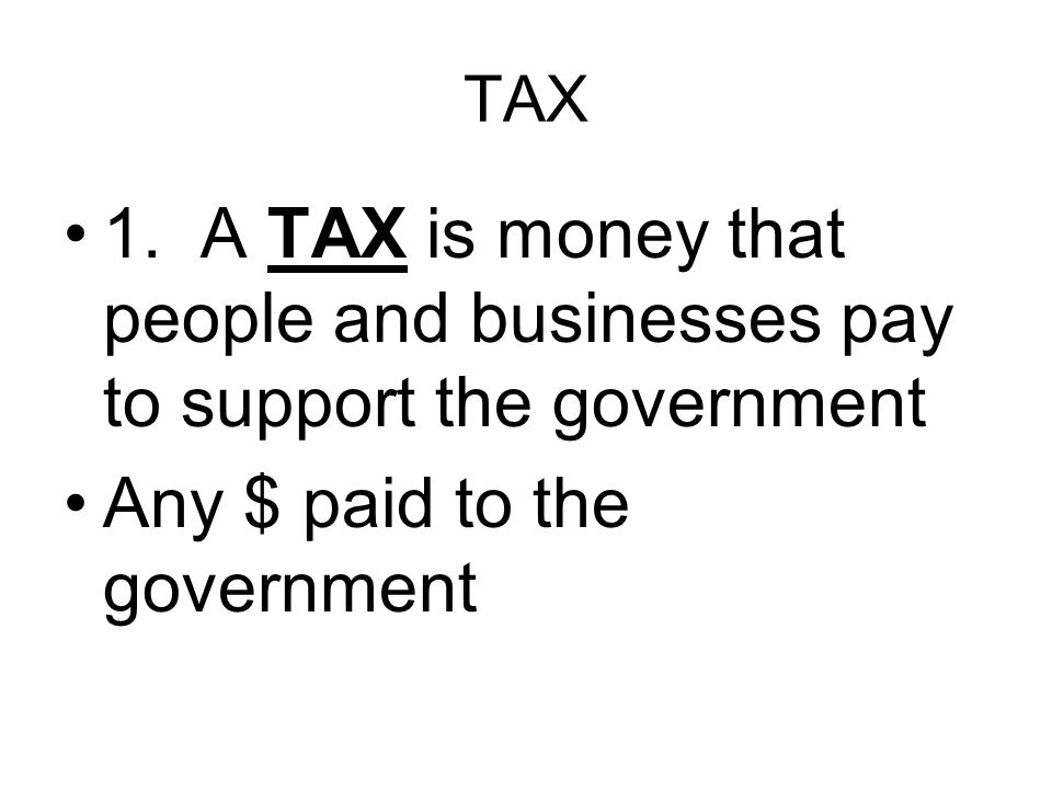 I.TAX BASICS C. ELASTICITY – The government uses tax revenue in times of crisis.
