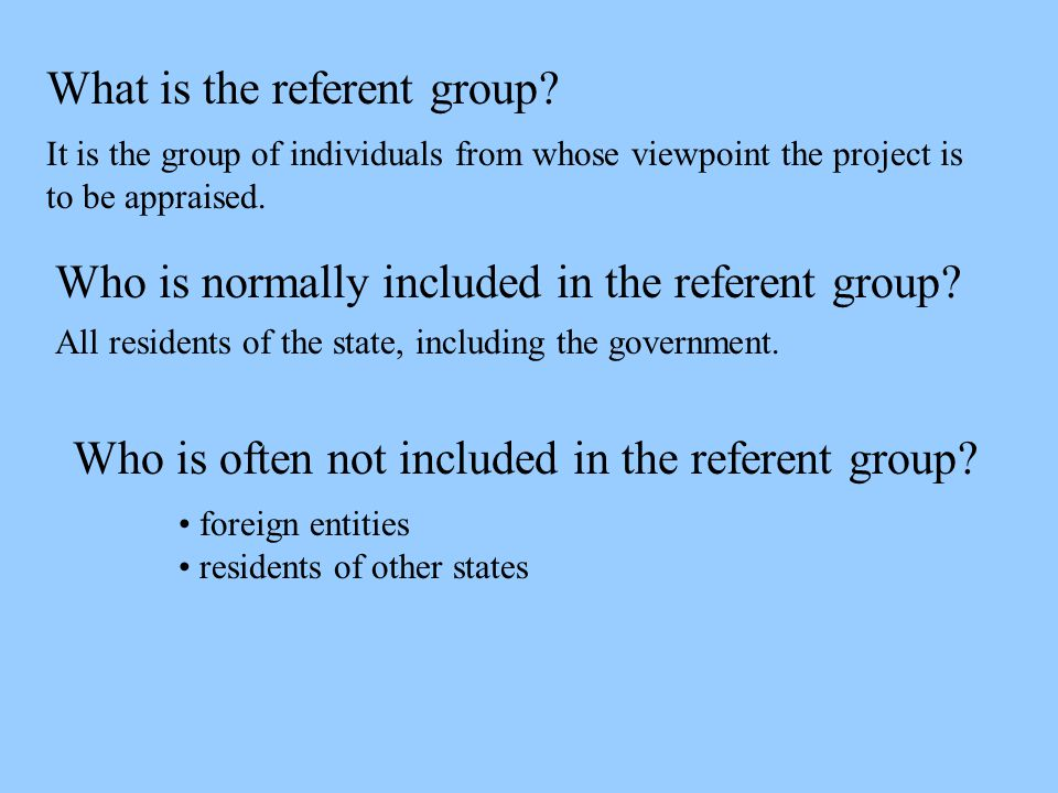 What is the referent group.