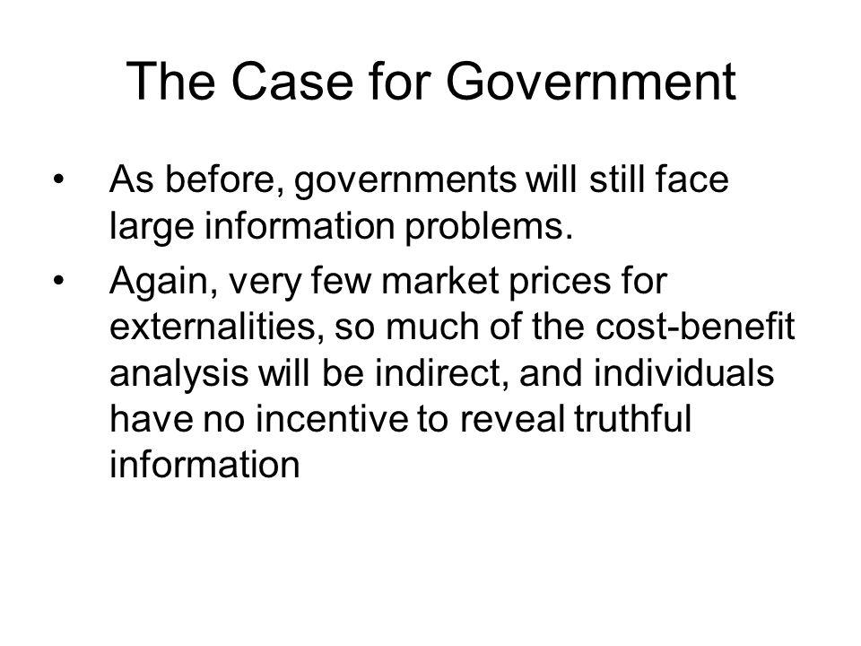 Government Responses Pigovian Taxes/Subsidies Regulation Quotas Tradable Permits